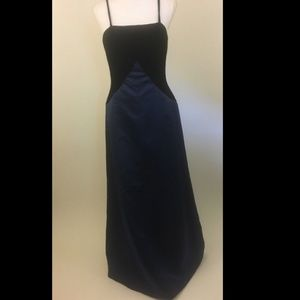 Oleg Cassini Black Tie Gown Size 6 Velvet & Satin